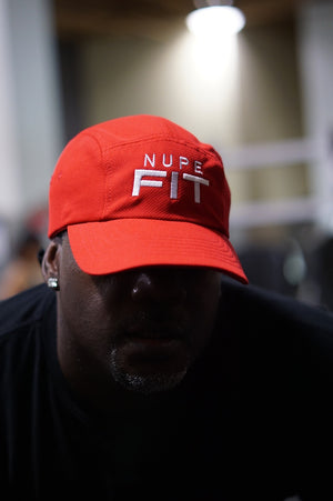 Nupe FIT 5-Panel Dri-Fit/EvapoWEAR™ performance cap, red