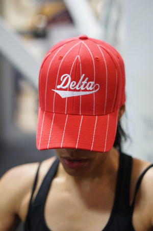 Ball Player Delta cap, red/white