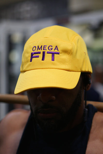 Omega FIT 5-Panel Dri-Fit/EvapoWEAR™ performance cap, gold
