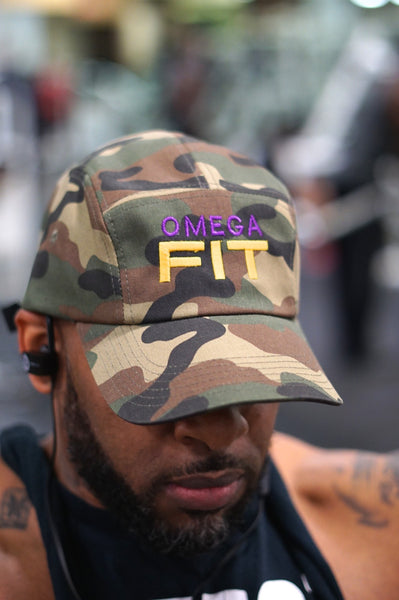 Omega FIT 5-Panel cap, camouflage