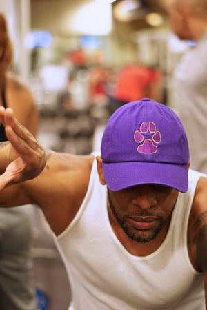 Dawg Pound polo dad hat, purple
