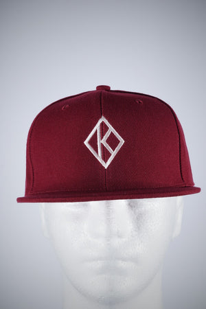 Diamond-K Klassic fitted cap, krimson