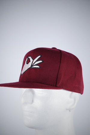 The Yo! fitted cap, krimson