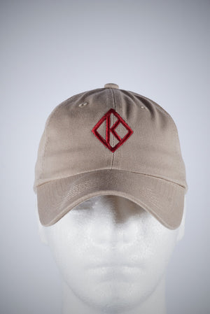 Diamond-K Klassic polo dad hat, kream