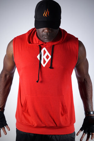 In The Cut Diamond-K muscle hoodie, red
