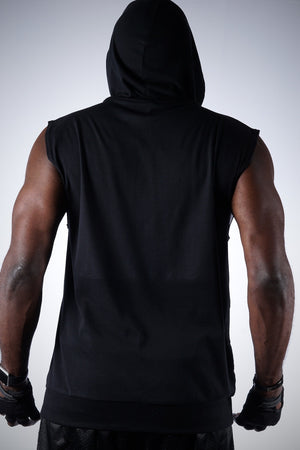 In The Cut Diamond-K muscle hoodie, black