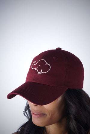 Trunks Up polo dad hat, crimson