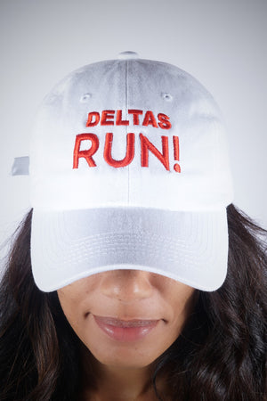 Deltas RUN polo dad hat, white