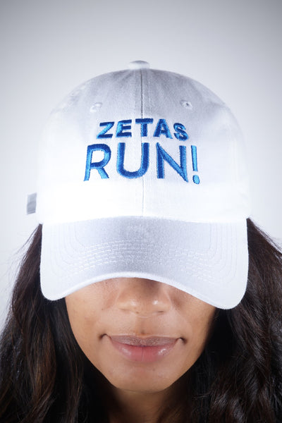 Zetas RUN polo dad hat, white
