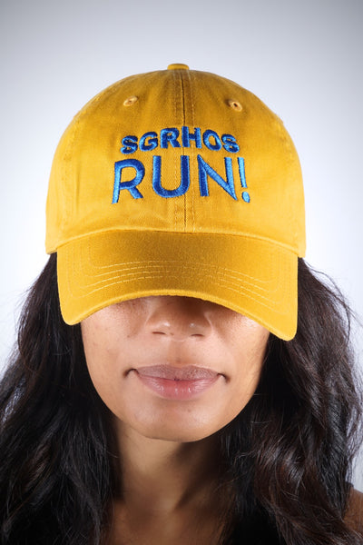 SGRhos RUN polo dad hat, gold