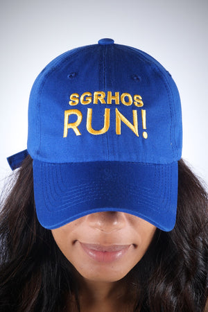 SGRhos RUN polo dad hat, blue