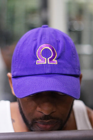 Ω polo dad hat, purple