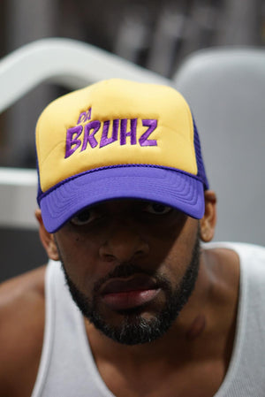 Da Bruhz trucker, purple/gold