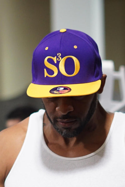 Set Some Sh*t Owt snapback, purple/gold