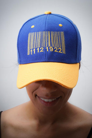 Made In 1922 cap, blue/gold