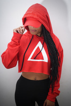 All My Love to Δ cropped hoodie, red