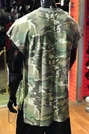Son of Thunder extended muscle tank, camouflage