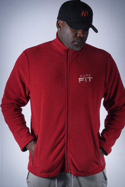 Nupe FIT polar fleece jacket, krimson