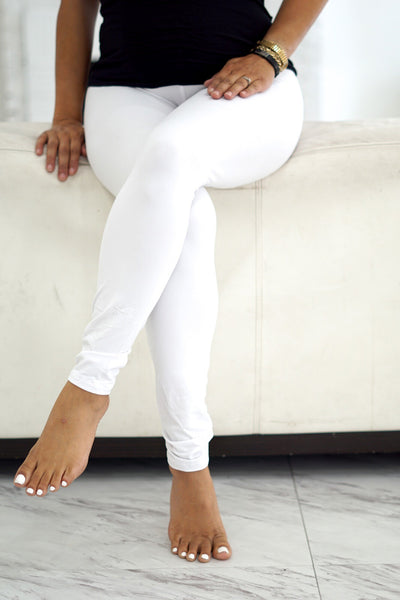 000 Klassy leggings, white