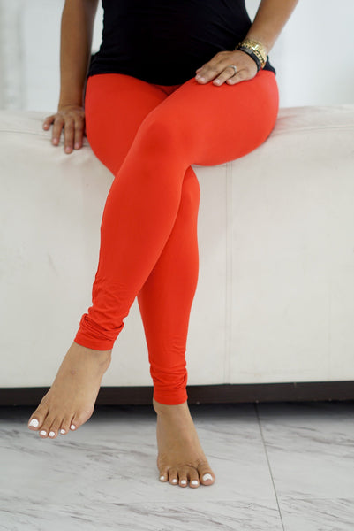 000 Klassy leggings, red