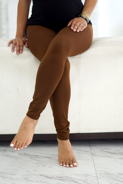 000 Klassy leggings, brown