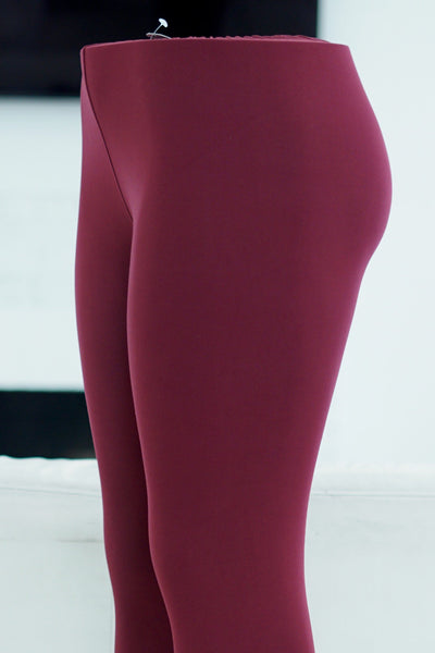 000 Klassy leggings, maroon (plus)