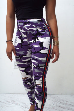 Battle Buddy fit jeans, purple Camouflage