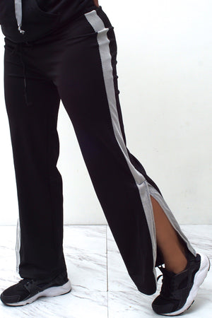 Stay On Track slit-flare pants, v.1