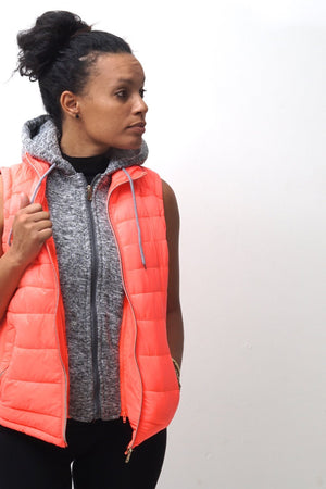 Free & Clear bomber vest, peach