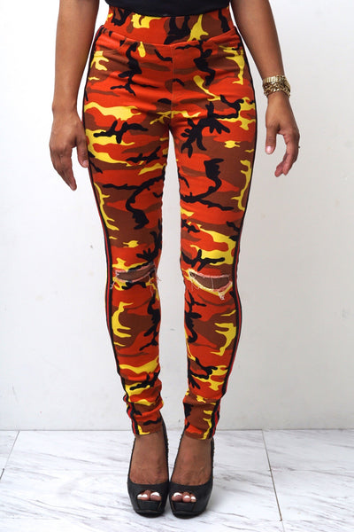 Battle Buddy fit jeans, orange Camouflage
