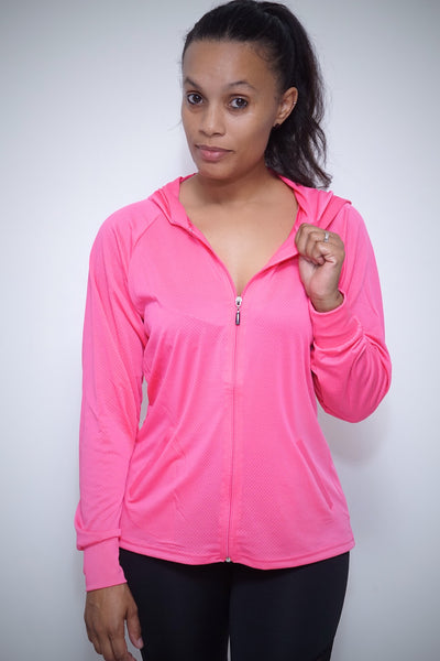 Ladies First mesh track jacket, pink