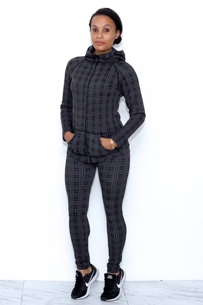 Straighten Your Act legging/jacket set, warm