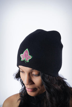 Strong and Lasting skullie beanie, black