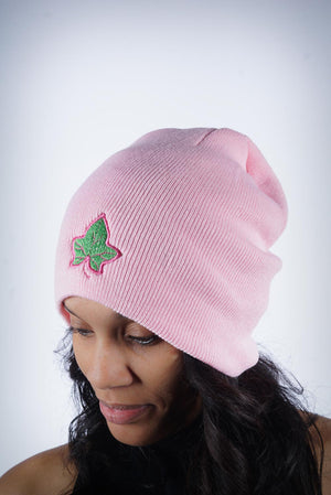 Strong and Lasting skullie beanie, pink