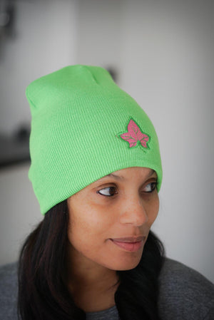 Strong and Lasting skullie beanie, green