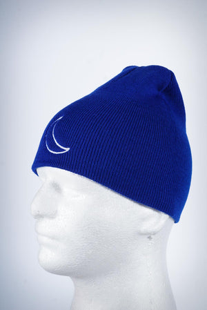 Crescent Moon skullie, blue