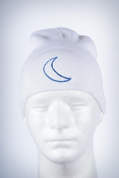 Crescent Moon skullie, white