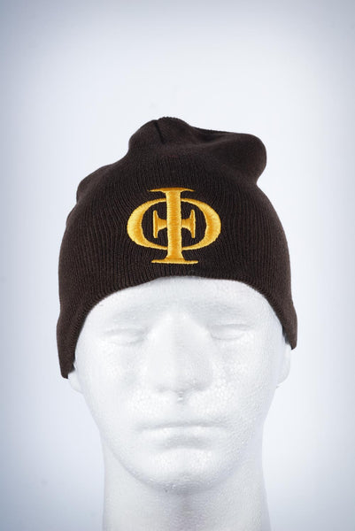 IPT Icon skullie beanie, brown
