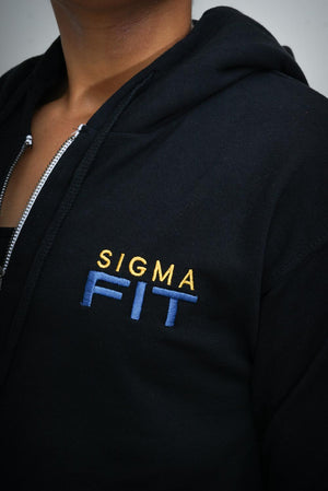 FIT SGRho cropped hoodie jacket, black