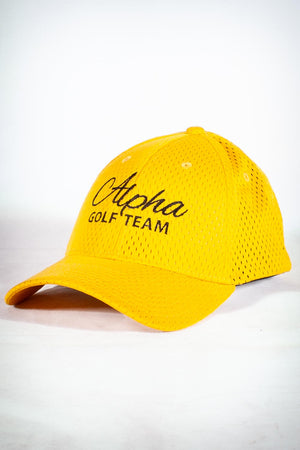 Golf Team, ALPHA fitted sport cap, gold