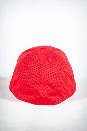 Golf Team, NUPE fitted sport cap, red