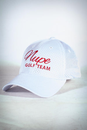 Golf Team, NUPE fitted sport cap, white