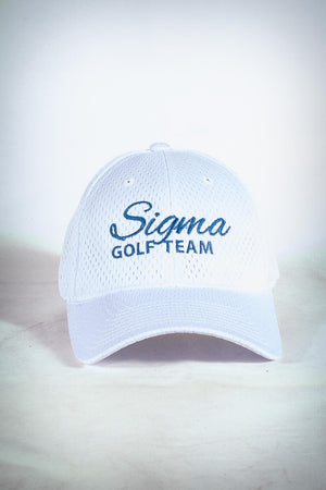 Golf Team, SIGMA fitted sport cap, white
