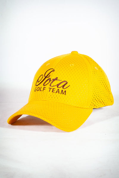 Golf Team, IOTA fitted sport cap, gold