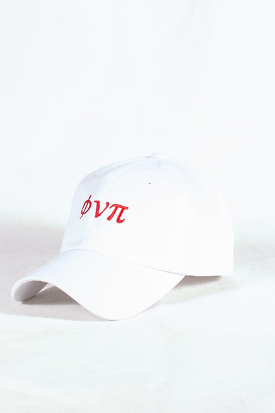 Nupes Only ϕνπ polo dad hat, white