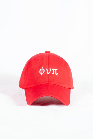 Nupes Only ϕνπ polo dad hat, red