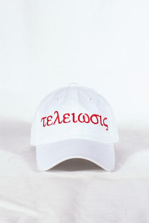 Nupes Only τελείωσις polo dad hat, white