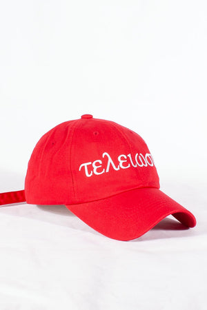 Nupes Only τελείωσις polo dad hat, red