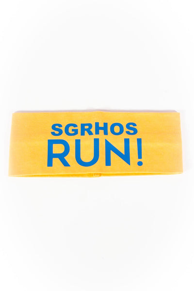 SGRHOs RUN Bondi Band extra-wide, gold/blue