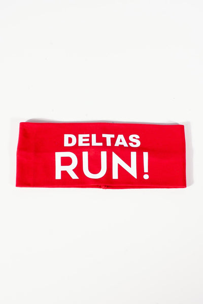 DELTAS RUN Bondi Band extra-wide, red/white